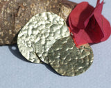 Round with Hammered Texture 25mm 26G Blanks for Soldering Jewelry Making Metalworking - 4 Pieces