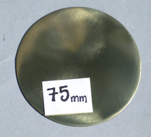3 inches Brass Blank Disc 24G Cutout for Soldering Stamping Texturing Charms, Metal Supplies - 1 Piece 75mm