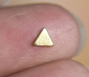 Bronze Triangles Blank 4mm 22g Cutout for Metalworking Soldering Stamping Texturing Blanks