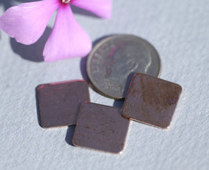 Copper 26g 12mm Square Blank Cutout for Enameling Stamping Texturing