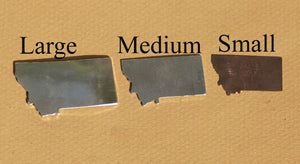 Blank Montana State Cutout for Enameling Stamping Texturing Soldering Jewelry Charm, Metalworking Supplies - 4 Pieces