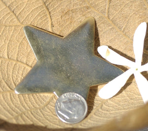Bronze Large Star Blank 20g 62mm Cutout for Metalworking Soldering Stamping Texturing Blanks