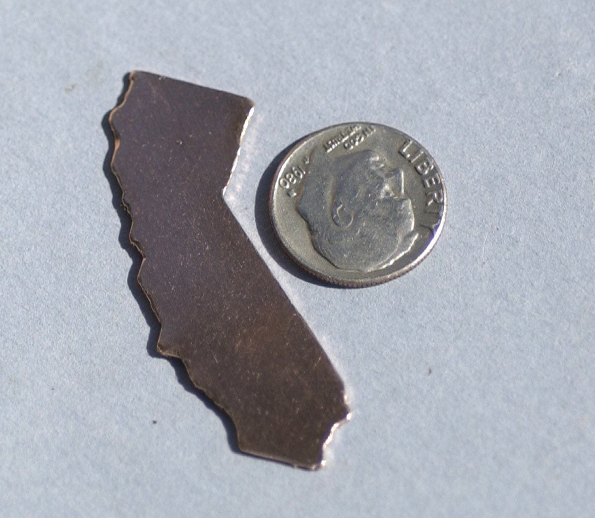 Copper or Brass or Bronze California State Blanks Cutout for Enameling Metalworking Stamping Texturing - Jewelry Supplies - 4 pieces