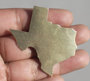 Texas State Blanks Cutout for Metalworking Stamping Texturing Blank Variety of Metals, Jewelry Supplies - 4 Pieces