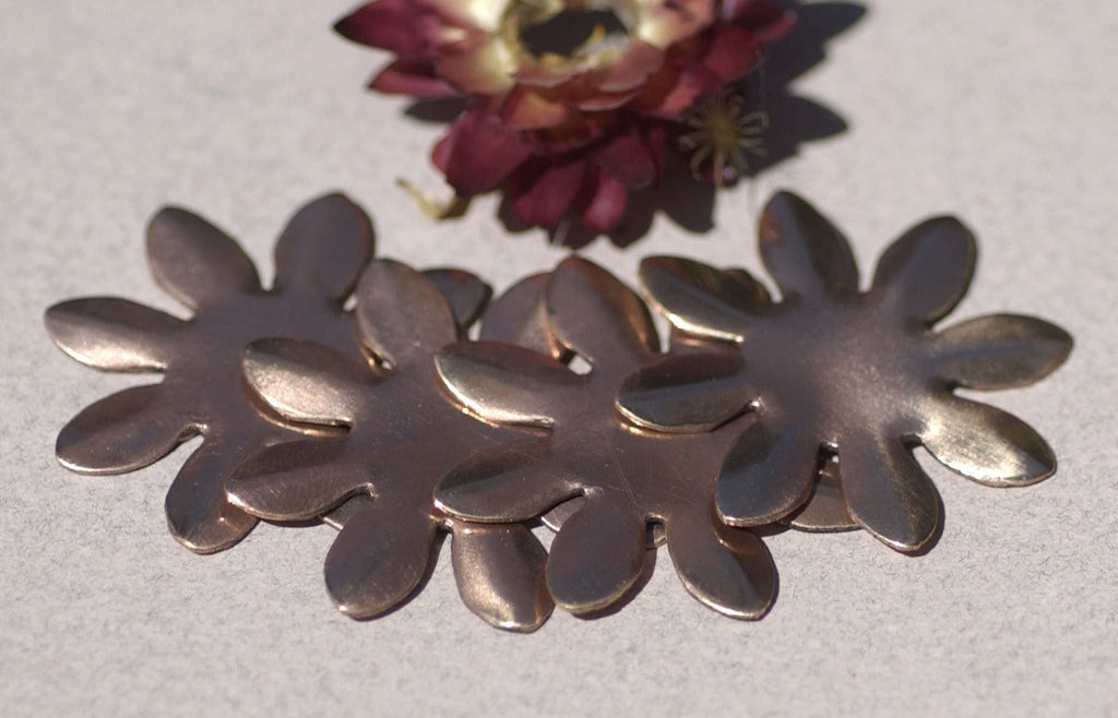 Buy Copper Blank Sunflower Flower 34mm Cutout for Blanks Enameling Stamping Texturing online