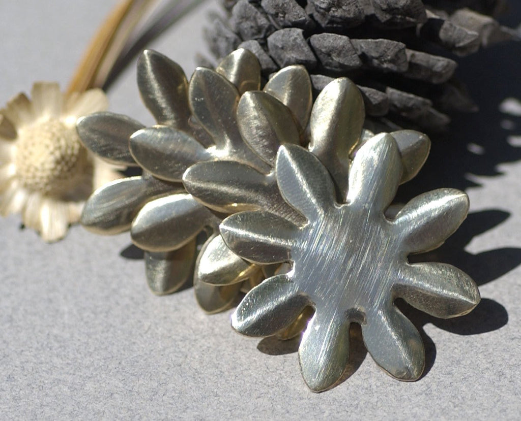 Buy Bronze Blank Sunflower Flower 34mm Cutout for Blanks Metalworking Stamping Texturing online