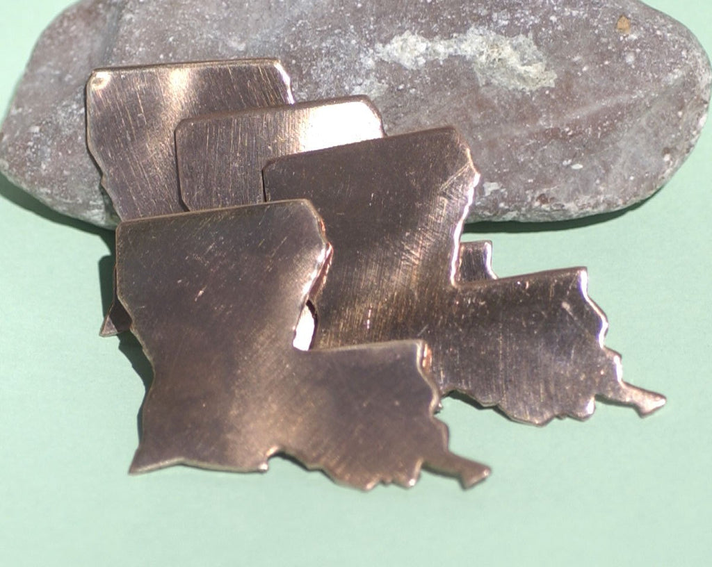 Buy Copper Louisiana State Blanks Cutout for Metalworking Copper 100% for Enameling Metalworking Charm - Jewelry Supplies online