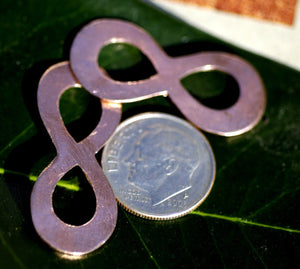 Copper Blank Infinity Symbol 32mm x 13.5mm 22g Cutout for Enameling Stamping Texturing