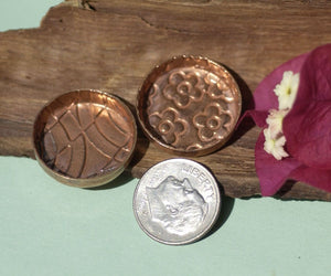 Textured Copper Bezel Cups 26g 21mm Round Blanks Cutout for Enameling Blanks
