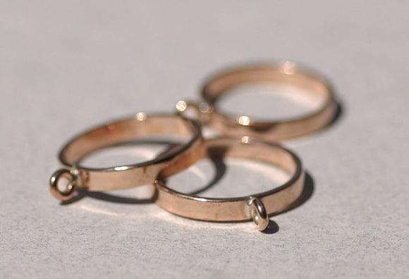 Copper Handmade Ring with 1 Loop 100% Copper Handmade - Size 7 Handmade Ring Blanks, DIY Ring