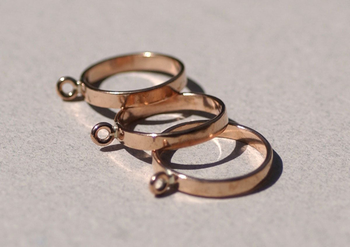 Copper Handmade Ring with 1 Loop 100% Copper Handmade - Size 6 Handmade Ring Blanks, DIY Ring