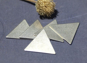 Nickel Silver Triangle 25.5mm 20g for Stamping Jewelry Making Texturing Soldering Blanks