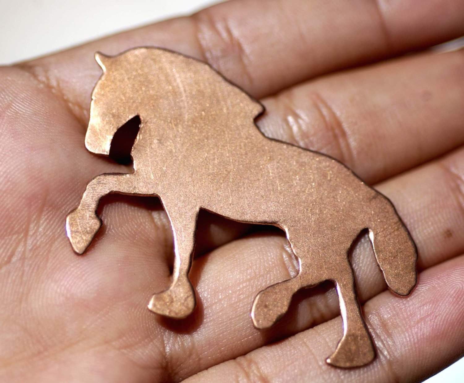 Clydesdale Horse Blanks Enameling Stamping Texturing Variety of Metals - 3 pieces