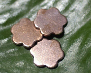 Tiny Flower Blank 13mm for Blanks Metalworking Stamping Texturing - 8 pieces
