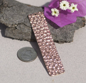 Hammered Bracelet 63mm x 14mm Blank Cutout with holes for Enameling Stamping Blanks Variety of Metals