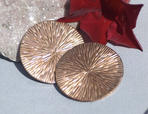 Buy Disc Round 35mm 24G Enameling Soldering Texturing Blanks, Metalworking Supplies - 4 Pieces online