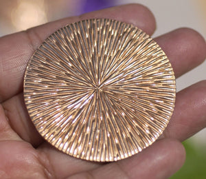 Buy Radiating Sun Pattern 24G Disc Blank 45mm Cutout for Enameling Stamping Texturing - 2 Pieces online