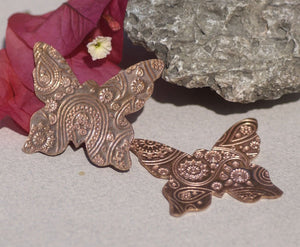 Butterfly Paisley Pattern Cutout for Blanks Enameling Stamping Texturing Variety Metals -2 pieces