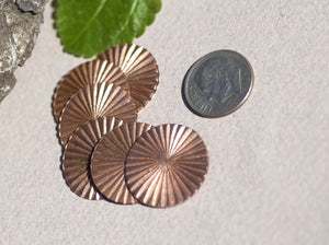Buy Disc Blank 20mm 24g Ruffled for Enameling Polished Textured Blank Shape - 6 pieces online
