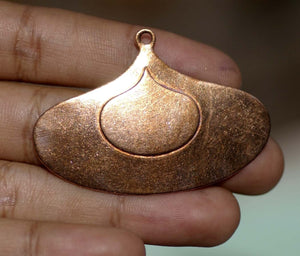 Arabic Hoops Embossed Teardrop with Hole Cutout Blank for Enameling Stamping Texturing Jewelry Making Blanks