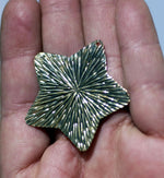 Star 24g 38mm Radiating Sun Pattern Cutout for Blank Metalworking Stamping Texturing Soldering Blanks Variety of Metal
