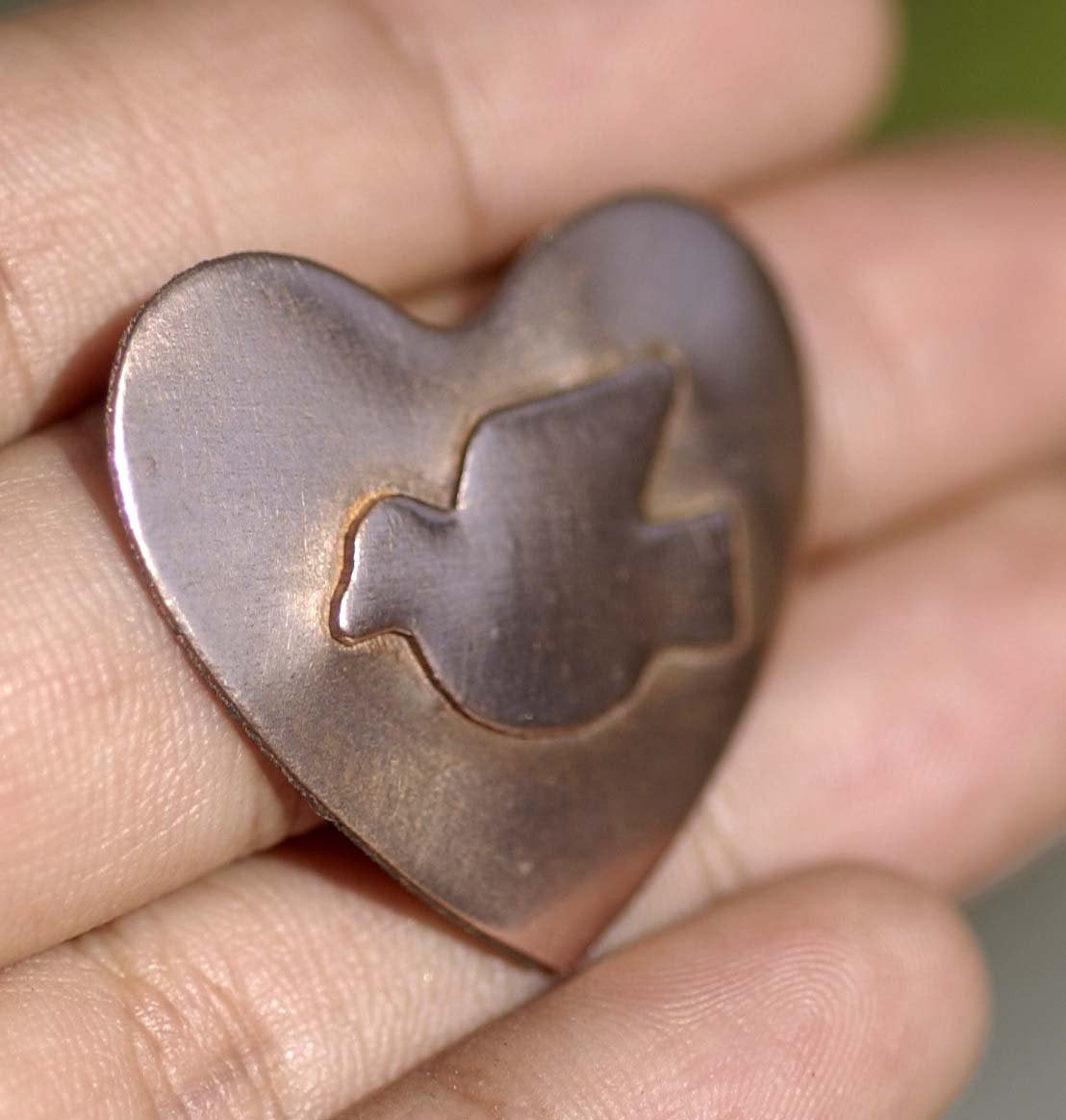 Lovely Dove Embossed Blank Cutout for Enameling Stamping Texturing Metalworking Jewelry Making Blanks
