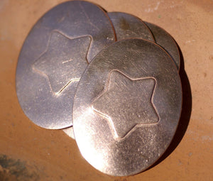 Chubby Star Embossed Blanks Enameling Stamping Texturing