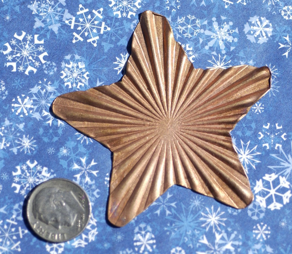 Large Star Ruffled 20g 62mm Cutout for Enameling Stamping Texturing Soldering Blanks