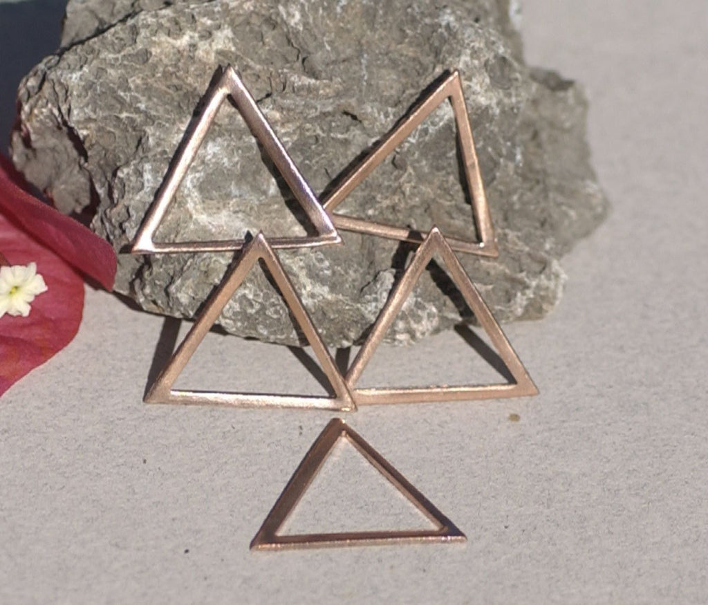 Triangle with Triangle Cutout, charm or link - 25mm