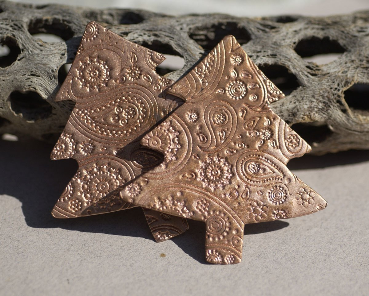 Blank Christmas Tree  62mm x 57mm Enameling Blanks - Jewelry Supplies