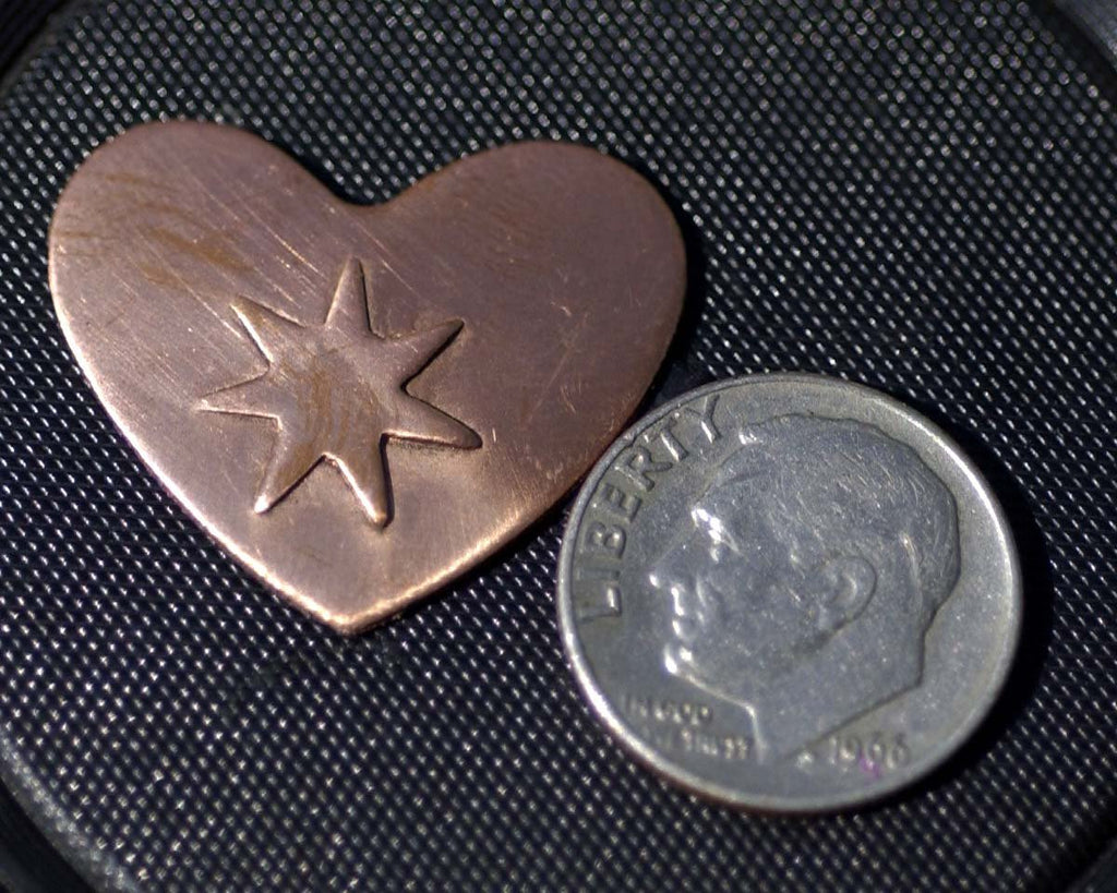 Buy Heart blanks embossed with stars online