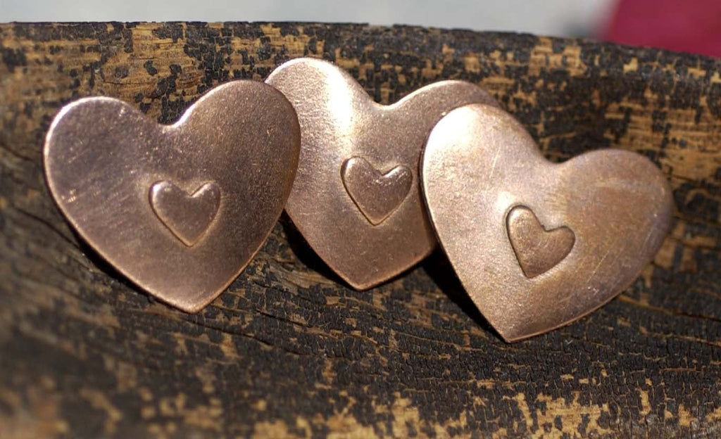 Heart 6mm Embossed Blank for Enameling Stamping Texturing Metalworking Jewelry Making Blanks