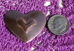 Hearts with Heart Embossed metal blanks