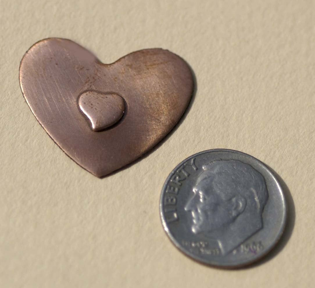 6mm Small Heart Embossed Blank for Enameling Stamping Texturing Metalworking Jewelry Making Blanks