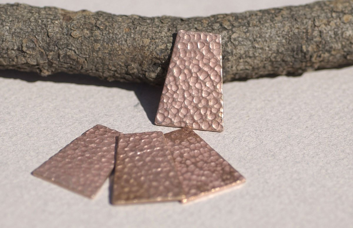Dappled Hammered Trapezoid 25mm x 18mm Blanks Cutout for Enameling Stamping Texturing Soldering for Pendant Jewelry Variety of Metals