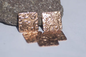 Square 16mm 20g in Lotus Flowers Pattern Cutout for Polished Jewelry Making Blanks Shape Variety of Metals