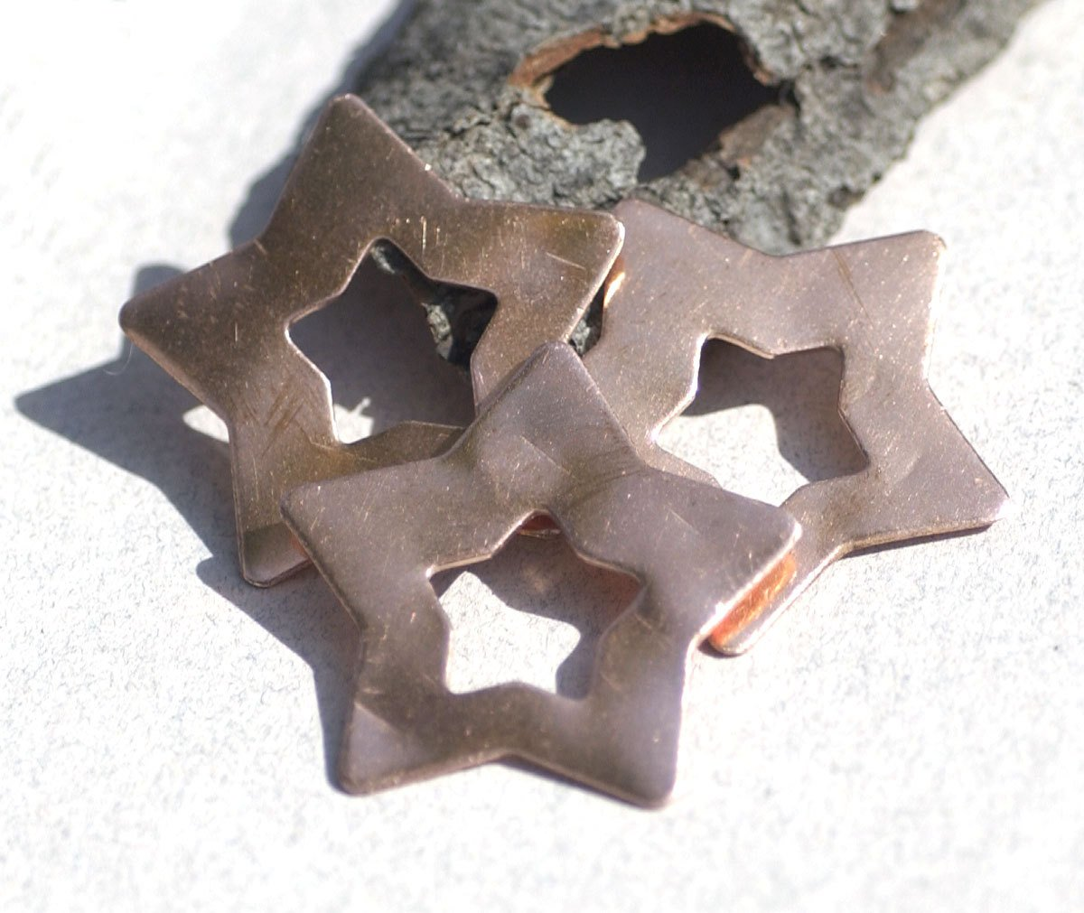Star with Star 36mm 24g Cutout Blank for Enameling Stamping Texturing Variety of Metals Blanks