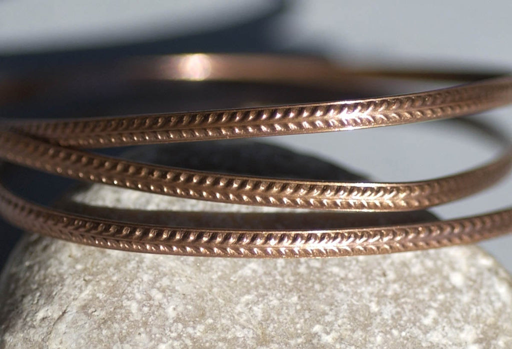 Pure Copper Ring Wire - Patterned Strip Shank 2.6mm