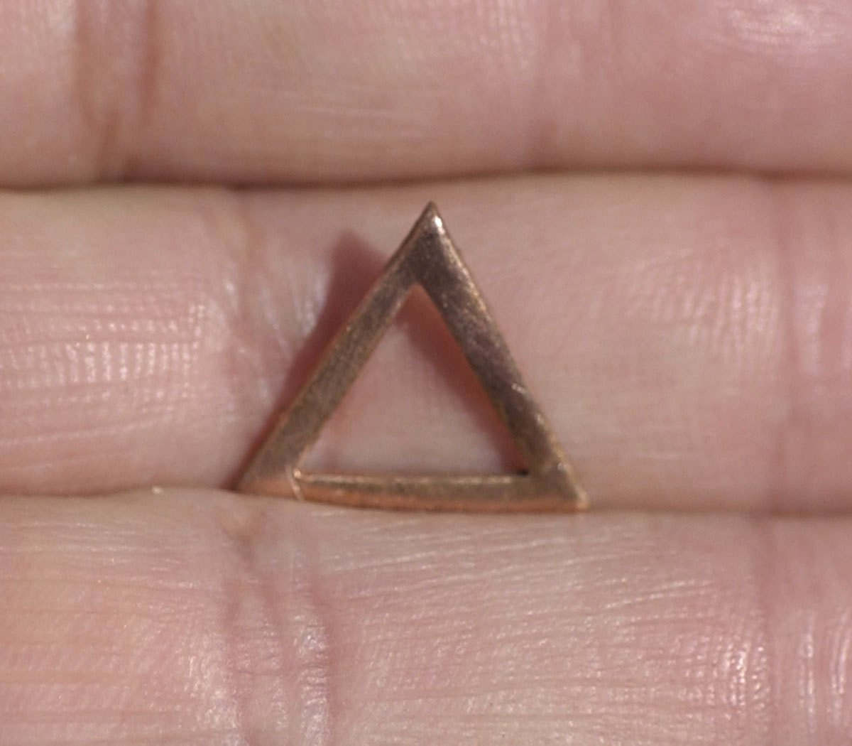 Triangle with Triangle Cutout  Link or Charm - 15mm