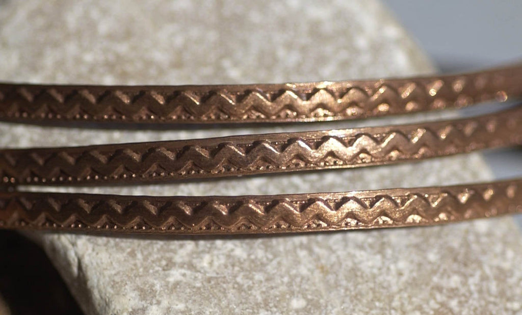 Wire Zig Zag Pattern Stock Shank 3.6mm Textured Metal Wire - Rings Bracelets Pendants Metalwork Variety Metals