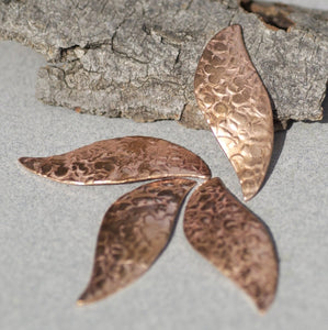 Hammered Leaves Flat Greenery Blank Cutout for Enameling Stamping Texturing Blanks Variety of Metals