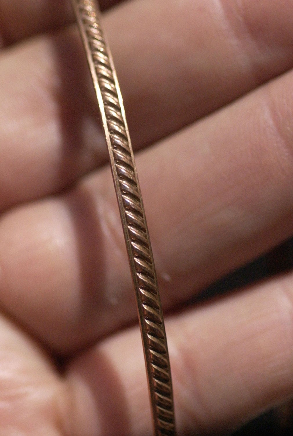 Ring Diagonal Lines Stock Shank 2.6mm Double Dots Metal Wire - Rings Bracelets Pendants Metalwork Variety of Metals