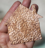 Hammered House 67mm x 64mm Cutout Shape for Metalworking Jewelry Making Shape Blank Variety Metals - 2 pieces