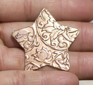 Star in Lotus Flowers 36mm 24g for Enameling Stamping Texturing Soldering Shape Charms Jewelry Making Variety of Metals - 4 pieces