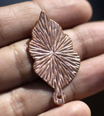 Leaf Radiating Sun with Hole Blank Cutout for Metalwork Stamping Texturing Blanks - 4 pieces