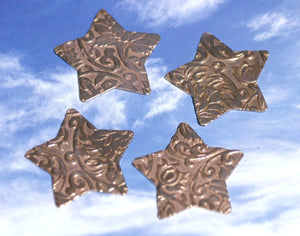 Star in Lotus Flowers 30mm 24g for Enameling Stamping Texturing Soldering Shape Charms Jewelry Making Variety of Metals