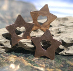 Star with Heart 36mm 22g Cutout Blank for Enameling Stamping Texturing Blanks Variety of Metals