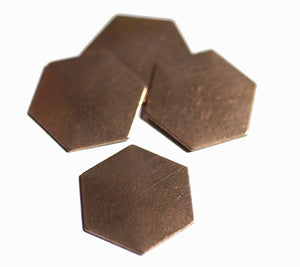 Hexagon 22g 15mm in Lotus Flowers Hexagons Blanks Cutout for Enameling Stamping Texturing Blank Variety of Metals