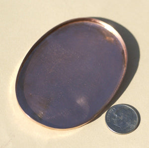 Oval Bezel Cups - 50mm x 70mm Blanks Outside Dimension, 4mm tall for Enameling