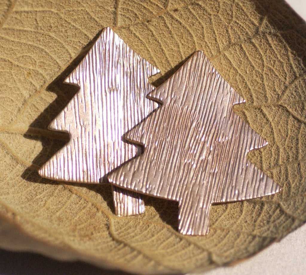 Large Christmas Tree Blank with Texture 62mm x 57mm Enameling Blanks - Metalworking Supply